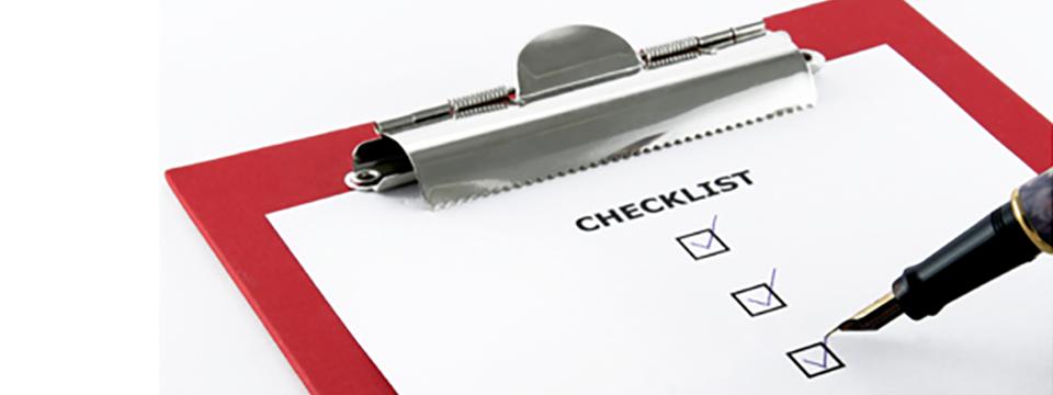 Algemene voorwaarden checklist